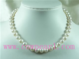 8-9mm white cultured freshwater pearl necklace jewelry