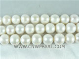 wholesale 12mm natural white potato freshwater pearl strand