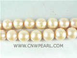 12mm natural pink potato freshwater pearl strand on wholesale