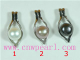 8.5-9mm cultured pearl pendant with oval mounting