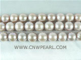 wholesale 9-10mm natural purple round freshwater pearl strand