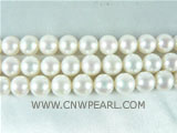 wholesale 8-9mm natural white round freshwater pearl strand