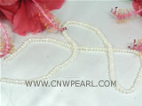 3.5-4mm white seed freshwater pearl strand on wholesale
