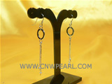 beautiful 925 silver dangling earrings with chain