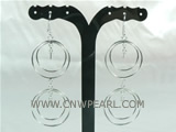 fashion 925 silver dangling earrings with rings
