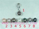 wholesale 6*8mm rice freshwater pearl pendant