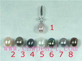 5*8mm cultured pearl pendant wholesale