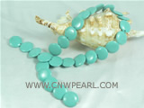 wholesale light blue coin shaped laminated turquoise strand