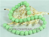 wholesale 12mm depicted turquoise strand with green color